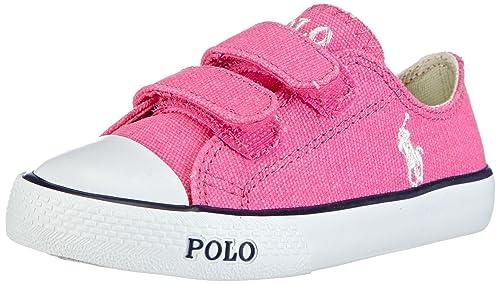 Polo Ralph Lauren Carson EZ - zapatilla deportiva de lona niña, color rosa, talla 33: Amazon.es: Zapatos y complementos