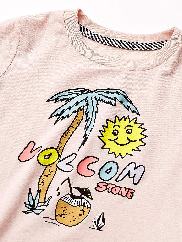 Volcom Womens Little Girls Last Party Short Sleeve Basic Fit Tee