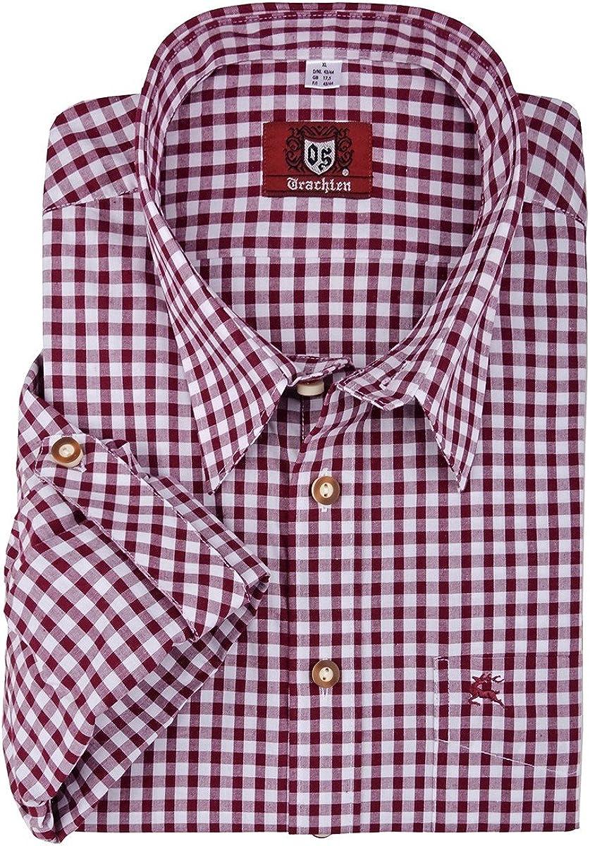 Camisa folclórica a cuadros roja y blanca Orbis XXL, 45/46-55/56:43/44: Amazon.es: Ropa y accesorios