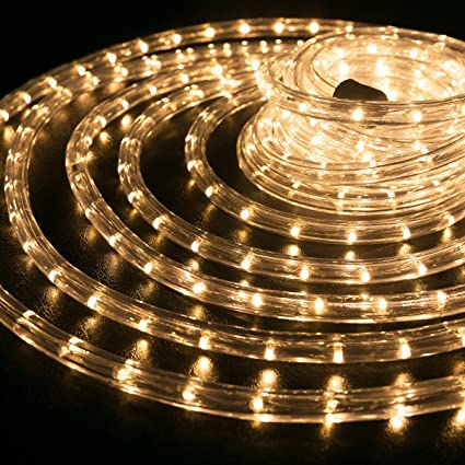 Amazon wyzworks 150 feet 12 thick warm white pre assembled wyzworks 150 feet 12 thick warm white pre assembled led rope lights with aloadofball Images
