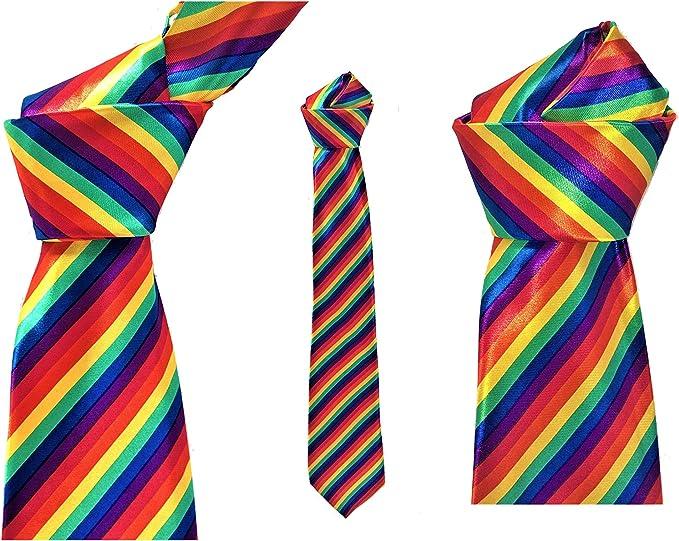 Corbata ARCOIRIS, ORGULLO GAY, Multicolor. Medidas: 145x9, 5 cms ...