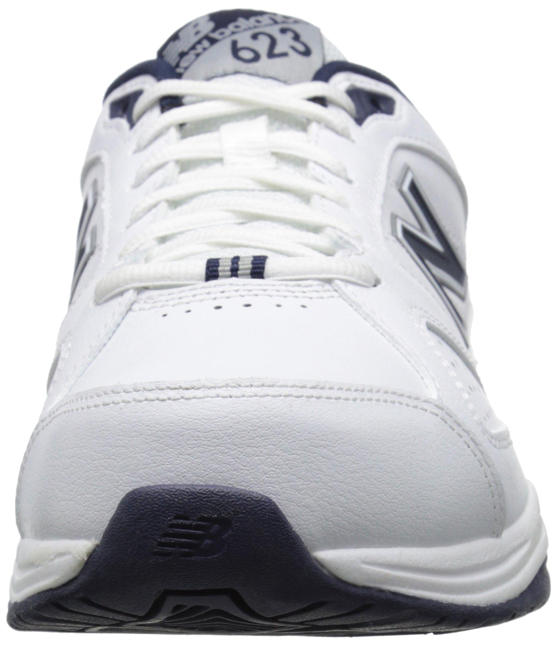 New Balance Men's MX623v3 Casual Comfort Training Shoe,  White/Navy, 8 M US by New Balance (Image #4)