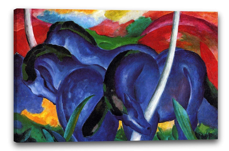 Franz Marc - Die großen blauen Pferde (1911), 80 x 60 cm (weitere ...