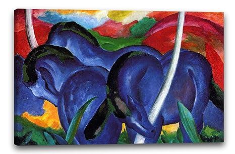Printed Paintings Leinwand 80x60cm Franz Marc Die Großen Blauen Pferde 1911
