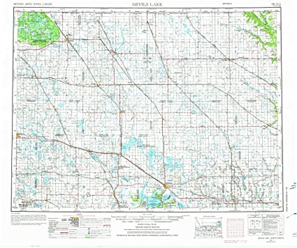Amazon.com : YellowMaps Devils Lake ND topo map, 1:250000 Scale, 1 on
