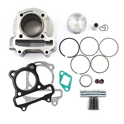 Trkimal Performance Upgrade Big Bore Cylinder Kit GY6 80cc 47mm for GY6 49cc 50cc139QMB ATV Scooter Moped Go Kart: Automotive