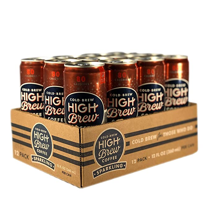 High Brew Sparkling Cold Brew Coffee Classic Black, 12 Ounce Can (12 Count)