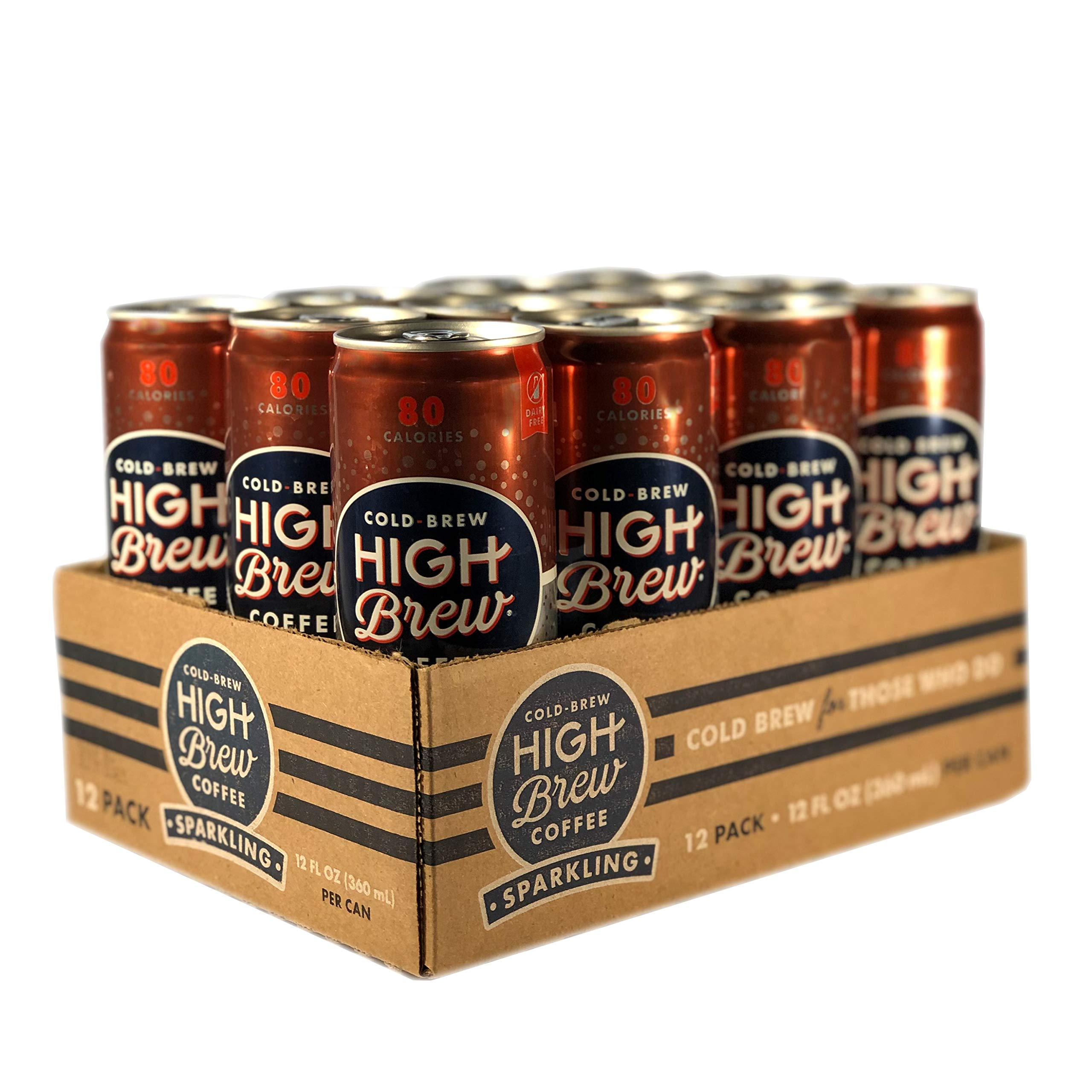 High Brew Sparkling Cold Brew Coffee Midnight Mocha, 12 Ounce Can (12 Count)