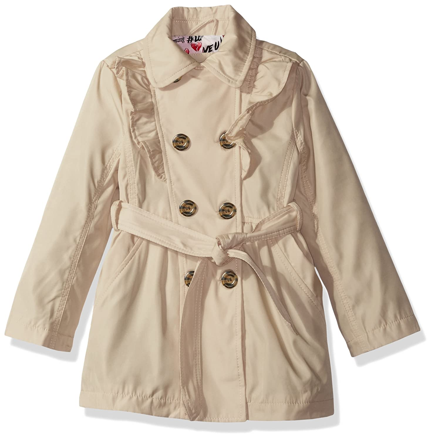 Urban Republic Girls' Toddler Fave Trench Coat, Baby Pink, 2T 5785TLR-125