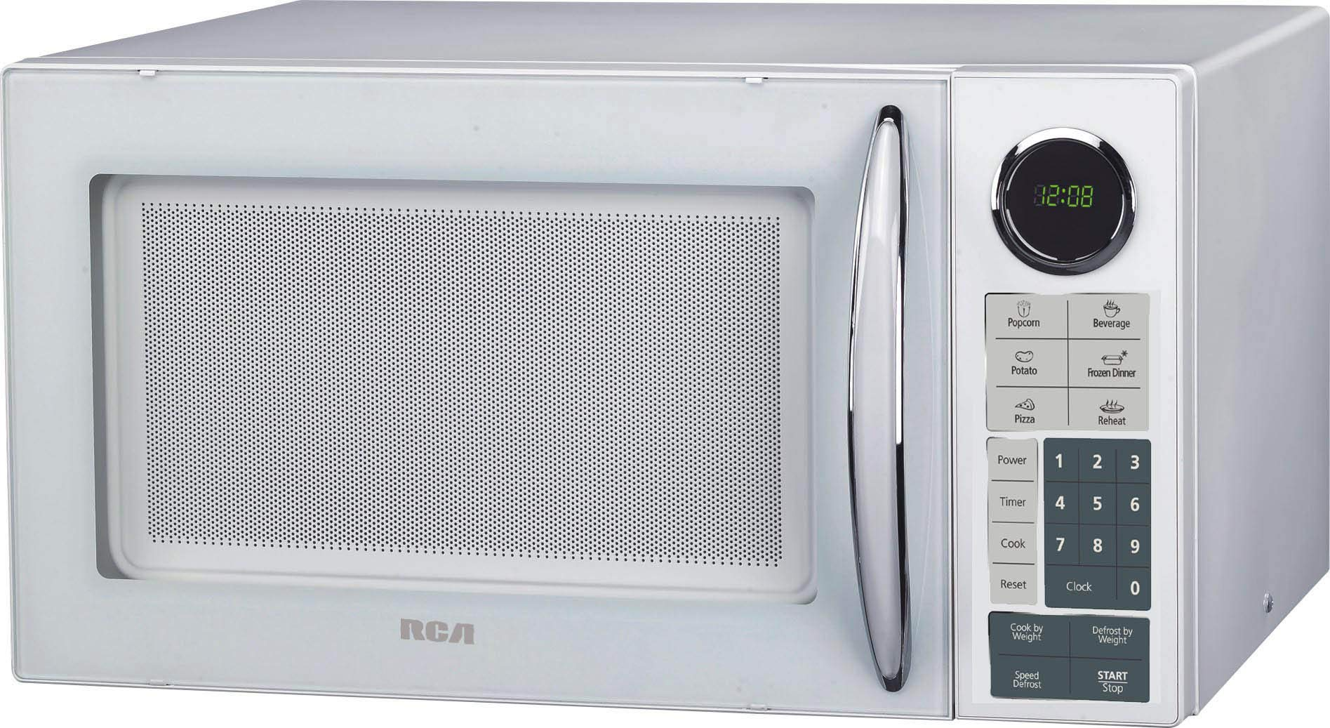 RCA RMW953-WHITE 0.9 Cu Ft Countertop Microwave, White, Mid-size, by RCA