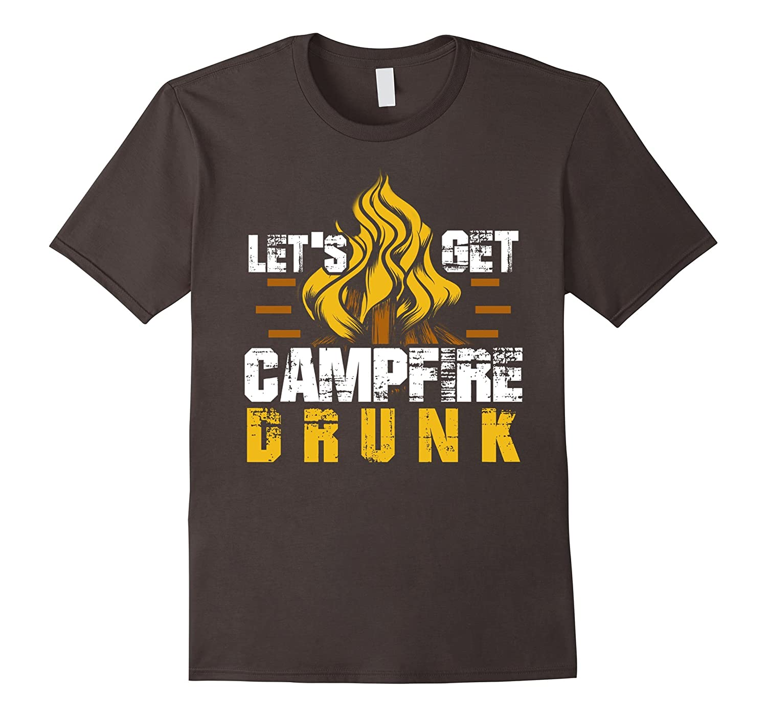 lets get campfire drunk funny camping beer wine camp t