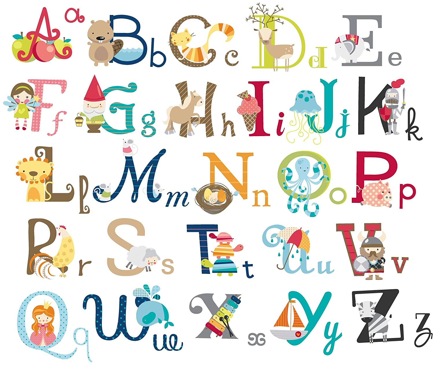 big graphic alphabet letters kids room nursery wall decal kids decal corner teaching alphabet wall stickers are