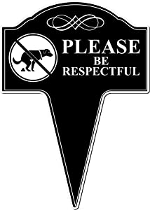 MRC Wood Products No Dog Pooping Please Be Respectful Aluminum Yard Sign 10x14