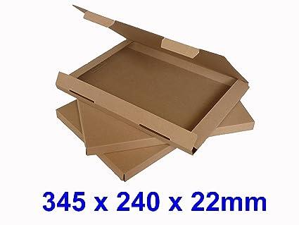 1000 x C4 A4 tamaño grande carta cartón Cajas para envíos postales PiP (marrón)