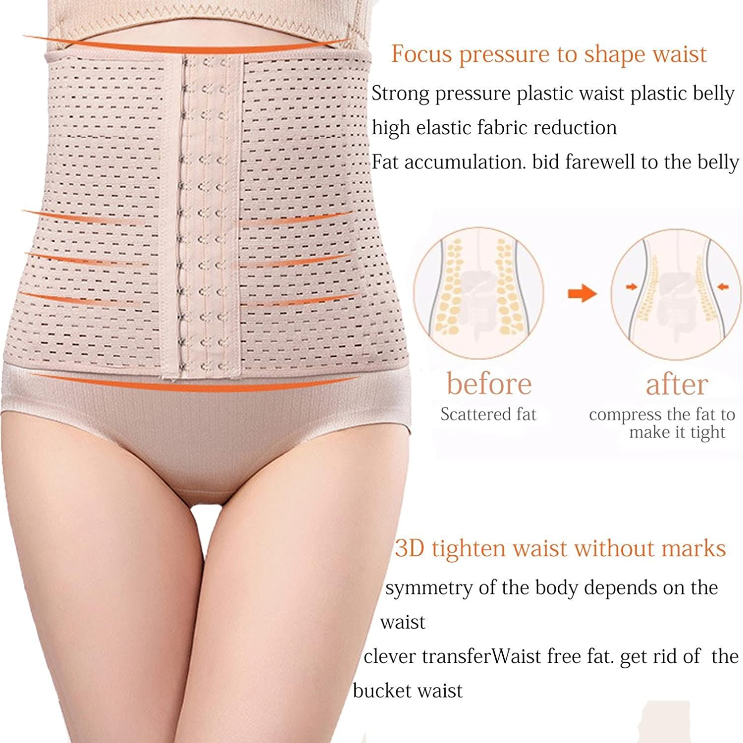 YENJOS Women Casual Corset Waist Training Shaper Body Shapewear Underbust Belt Bodysuits