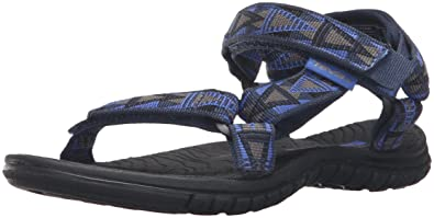 Teva Boys' Hurricane 3 Sandal, Mosaic Blue/Grey, 1 M US Little