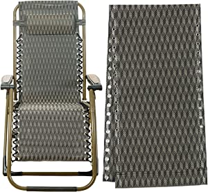 Gravity Chair Replacement Fabric, Zero Gravity Lounge Chair Recliners Repair Tool Cloth Part for Pool Side Outdoor Patio Yard Beach Pool Lawn Camping Reclining Mesh Canvas for Anti-Gravity Chair