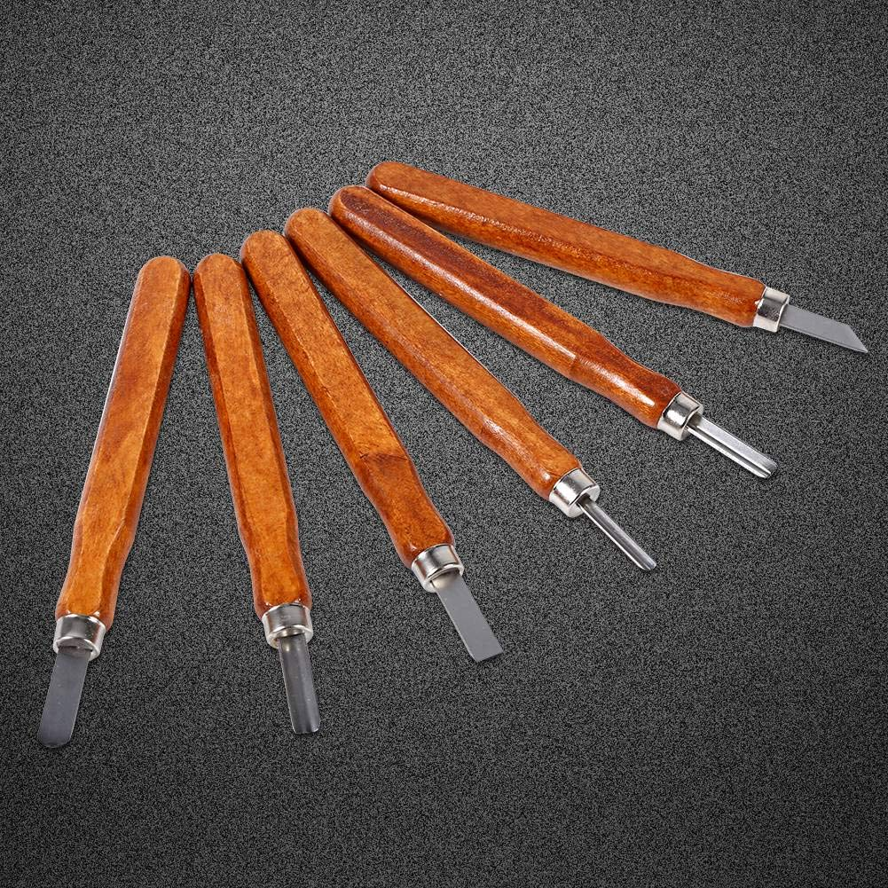 9Pcs Juego de herramientas de tallado en madera Cuchillo Mini Cincel de acero con mango manual para DIY Craft Kit 6Pcs 3//6 Cuchillo para trinchar