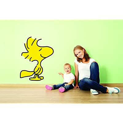 Charlie Brown and Snoopy Wall Vinyl Art Decal/Peanuts Cartoon Kids Bedroom Stickers Decals/Childs TV Characters/Patty Shermy Snoopy Violet Gray Linus Van Pelt/Yellow Friend Size 15X20inch: Home & Kitchen
