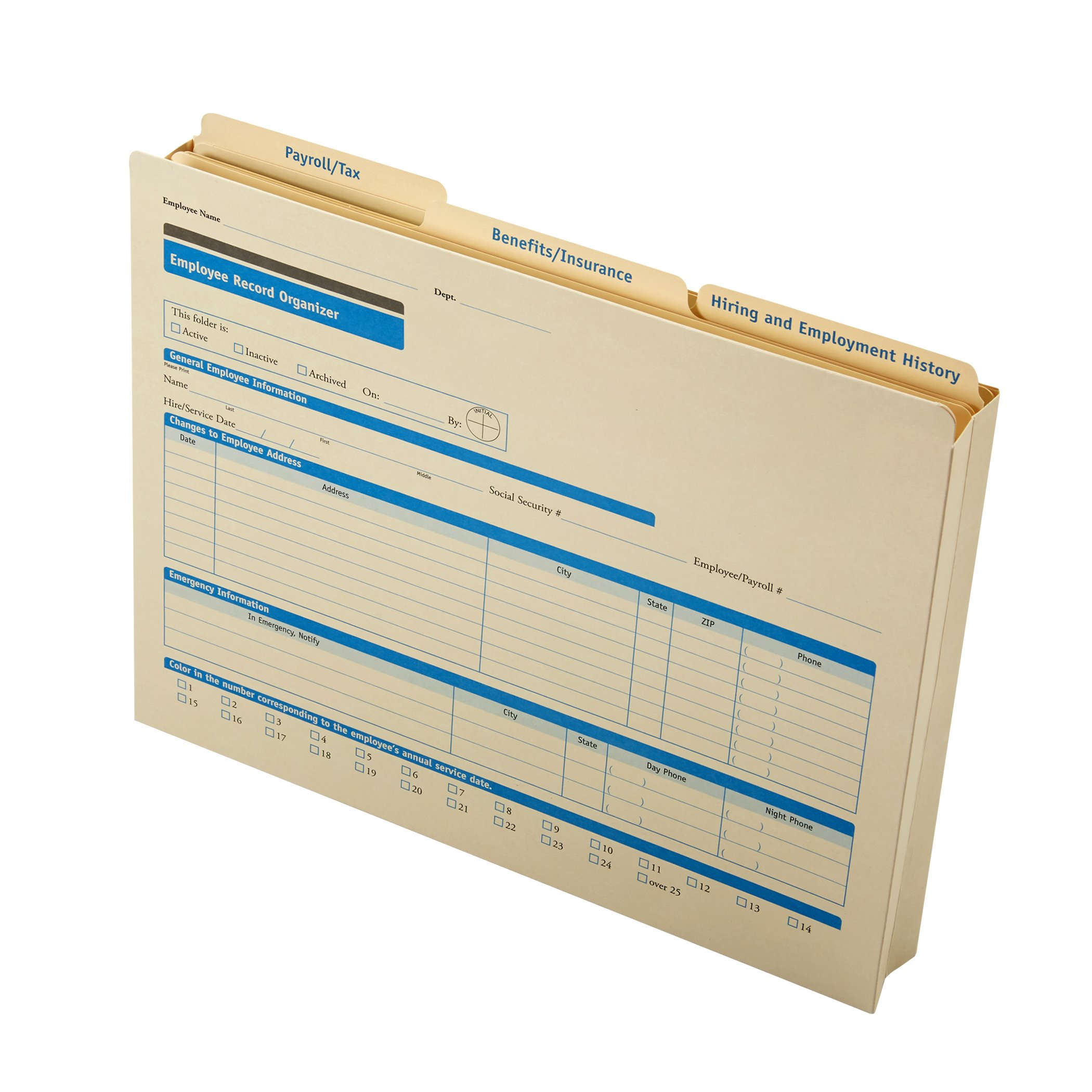 ComplyRight Employee Record Organizer 3-Folder Set, 25 Sets by ComplyRight (Image #2)