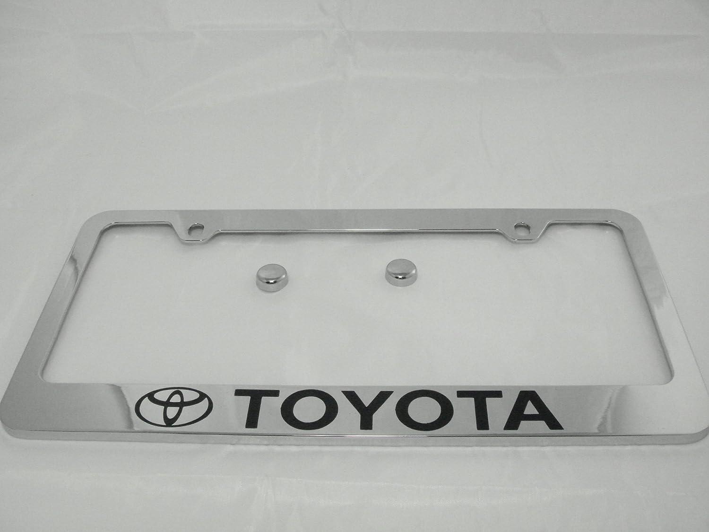 Amazon.com: Toyota Chrome License Plate Frame with Cap: Automotive
