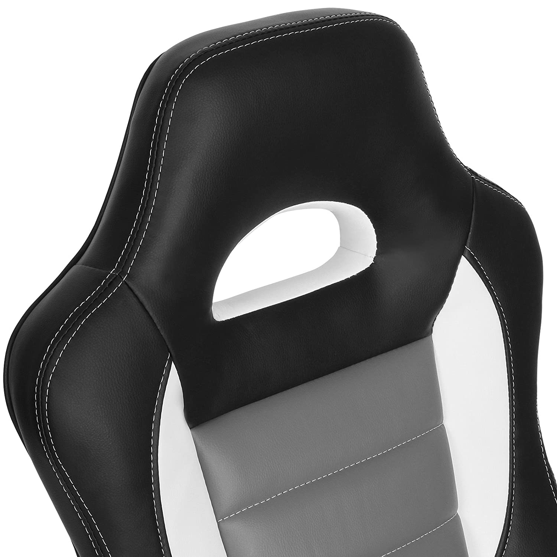 Silla giratoria para oficina o para el hogar en 3 colores - An/Alt: aprox. 64/73 cm - color negro: Amazon.es: Hogar