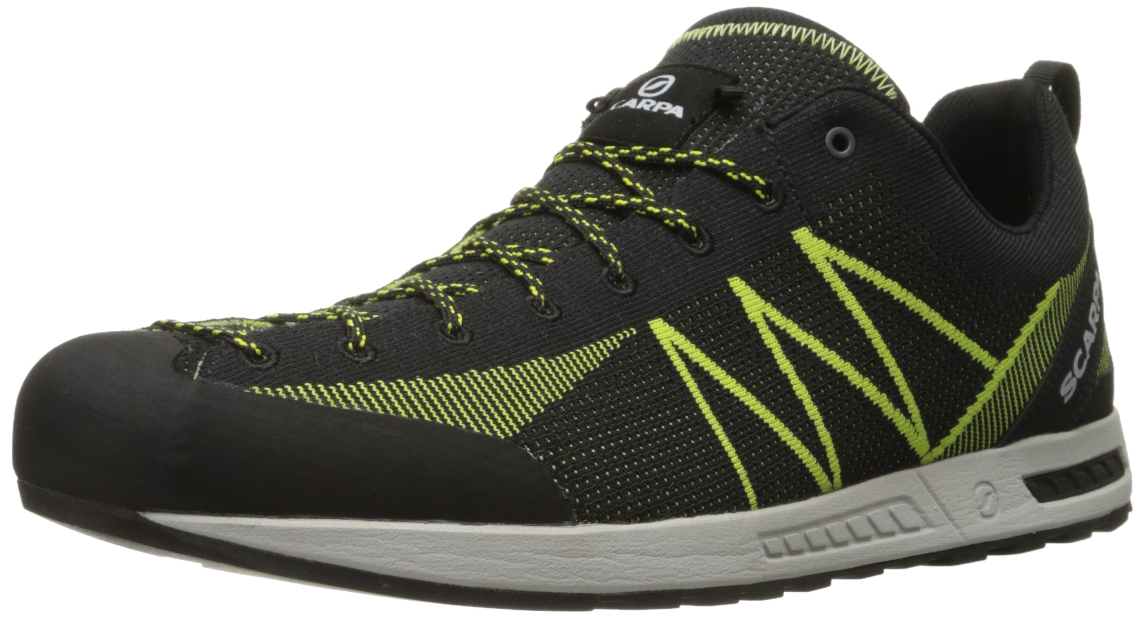 SCARPA Men's Iguana Approach Shoe, Black/Lime, 46 EU/12 M US
