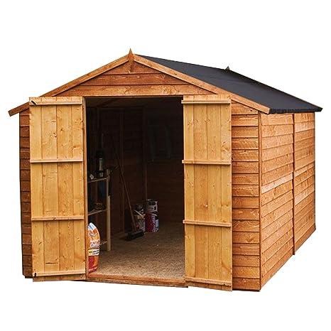 Waltons - Cobertizo de madera para jardín, sin ventanas, con techo a dos aguas