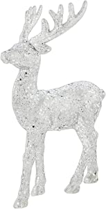 The Bridge Collection Silver Sequined Reindeer Figurine