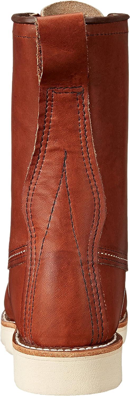 Red Wing Scarpa Uomo Boot Alta Pelle Colore Marrone Modello Toe Classic 8\