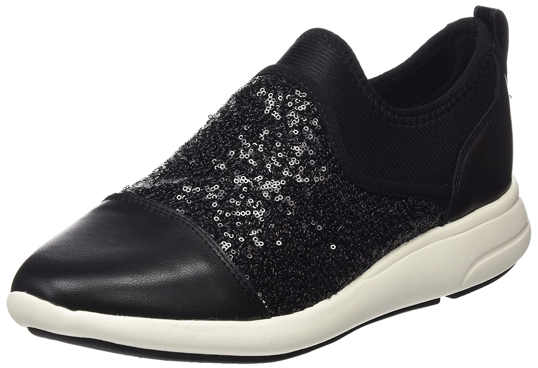 Geox Damen D Ophira B Sneaker Schwarz (Black)