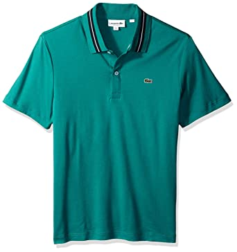 f09eb7617767ec Lacoste Men s Short Sleeve Pima Reg Fit Contrast Collar Polo at Amazon  Men s Clothing store