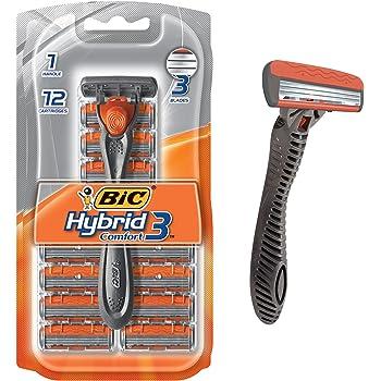 BIC Hybrid 3 Comfort - Maquinilla de afeitar desechable para hombre ... 69d66cbf9bb6