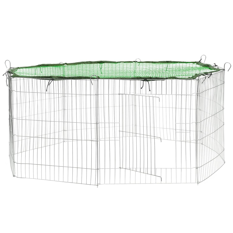 TecTake Enclos extérieur avec filet de protection pour petits animaux | Diamètre env. 145 cm | Bleu 800445