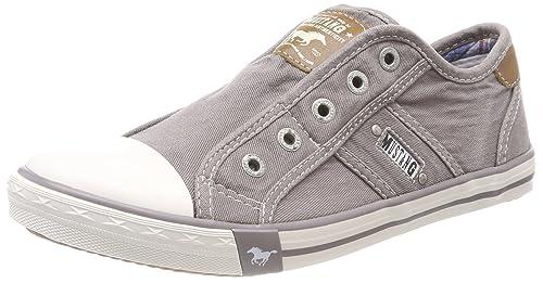 Mustang 1099-401-932, Zapatillas Sin Cordones Para Mujer, Gris (Silbergrau), 37 EU: Amazon.es: Zapatos y complementos