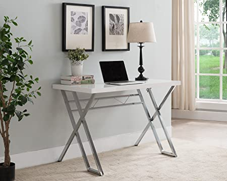 Kings Brand Furniture Modern Home Office Writing Workstation Computer Desk White