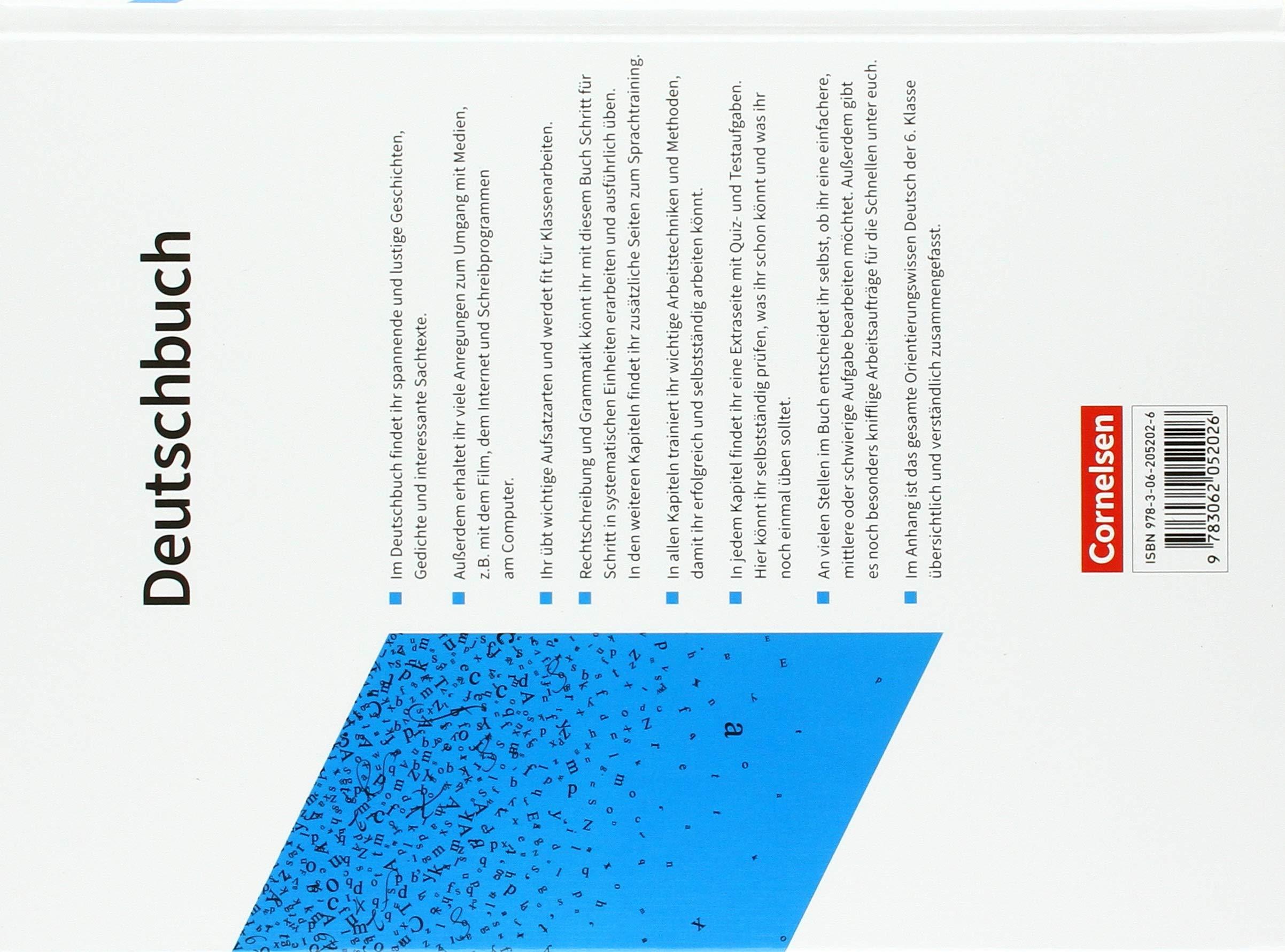 Deutschbuch Gymnasium 6 Schuljahr Schülerbuch
