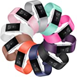 SnowCinda Fitbit Charge 2 Bracelet de Remplacment,Edition Speciale Bracelet Reglable en Silicone avec Boucle Metal en Acier Inoxydable Fitness Wristband