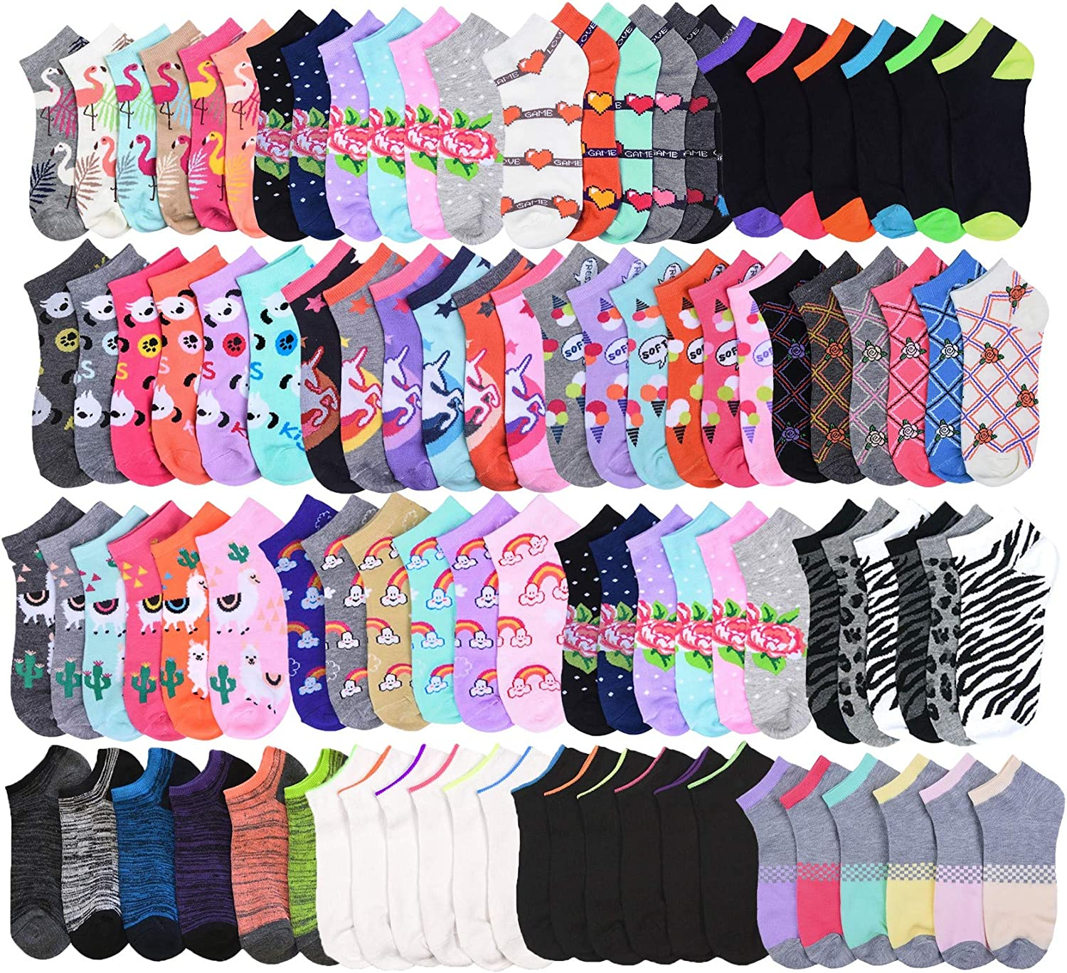 4 12 Pairs Teen Cotton Socks No Show Low Cut School Solid White Size 6-8 Unisex