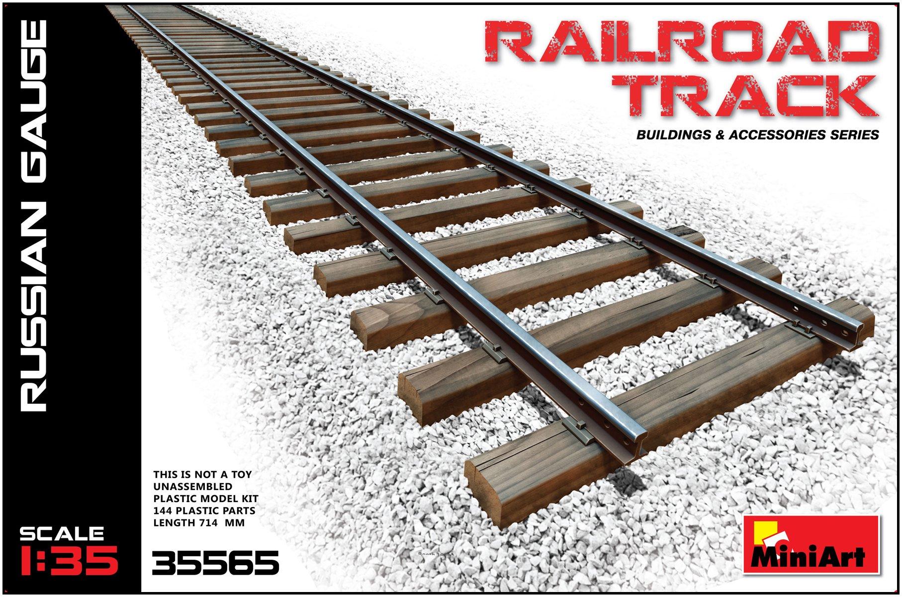 1:35 Miniart Railroad Track Russian Gauge Set Model Kit.