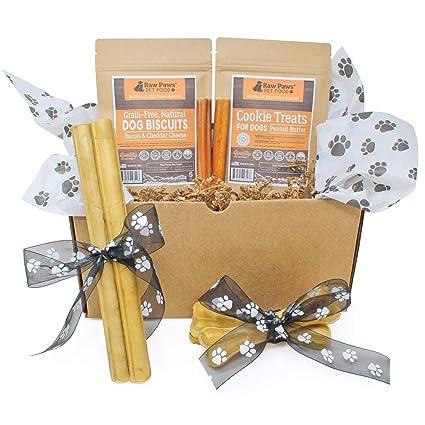 Raw Paws Pet Dog Birthday Treats Gift Box Medium Dogs
