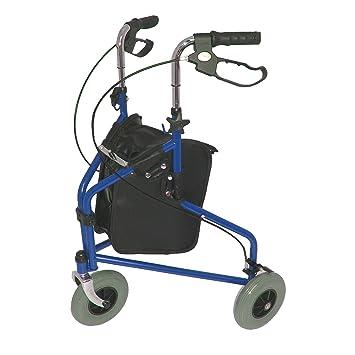 Triwalker de acero ligero plegable con 3 ruedas con bolsa ...