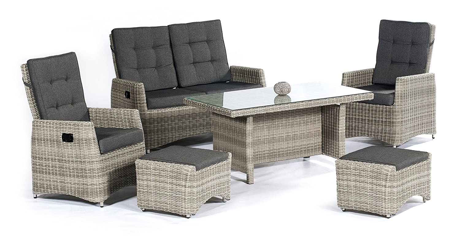 extra hohe dining poly rattan lounge roseville plus mit. Black Bedroom Furniture Sets. Home Design Ideas