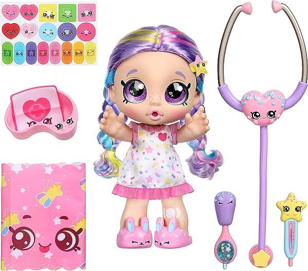 Kindi Kids Shiver 'N' Shake Rainbow Kate interactive baby doll for pre-school kids