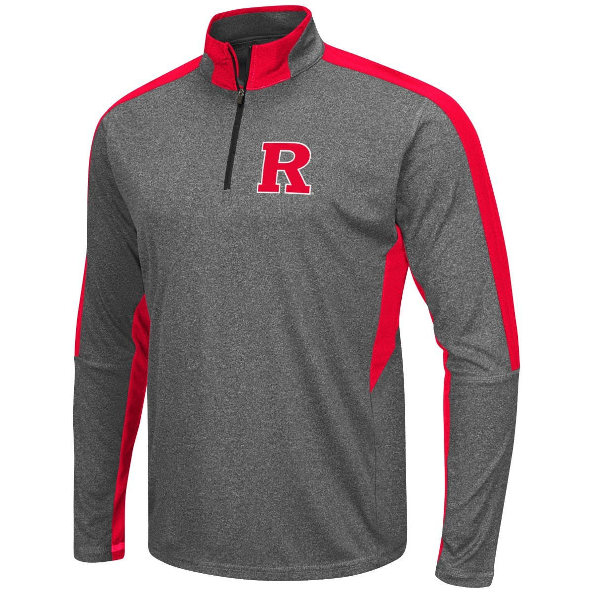 low priced 7a878 eb349 Amazon.com   Colosseum Rutgers Scarlet Knights NCAA Atlas 1 4 Zip Pullover  Men s Charcoal Wind Shirt   Sports   Outdoors