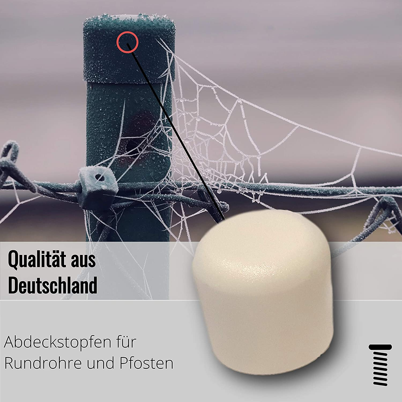 schwarz 20 Kappen f/ür Rundrohre//Rundst/äbe//Pfostenkappen