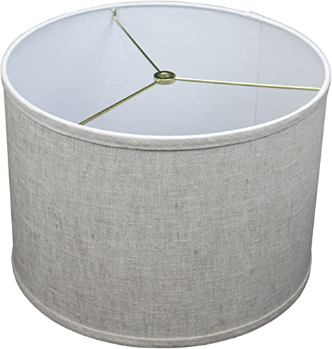 FenchelShades.com 14 Top Diameter x 14 Bottom Diameter 10 Height Cylinder Drum Lampshade USA Made Designer Oatmeal