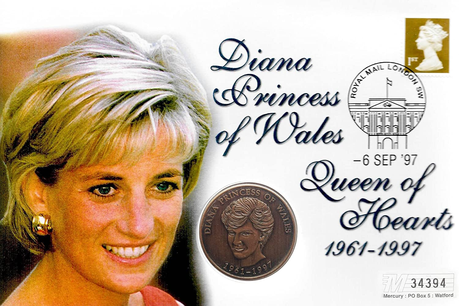 Amazon Stampbank First Day Coin Cover Princess Diana Of Wales