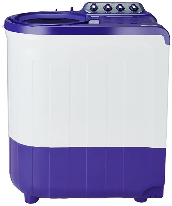 Whirlpool 8 kg Semi Automatic Top Loading Washing Machine  Ace Supersoak 8.0, Coral Purple  Large Appliances
