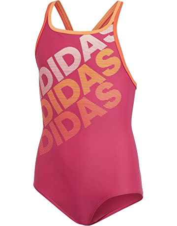 c30f367617 adidas Girls' Young 1 Piece Linear Swimsuit